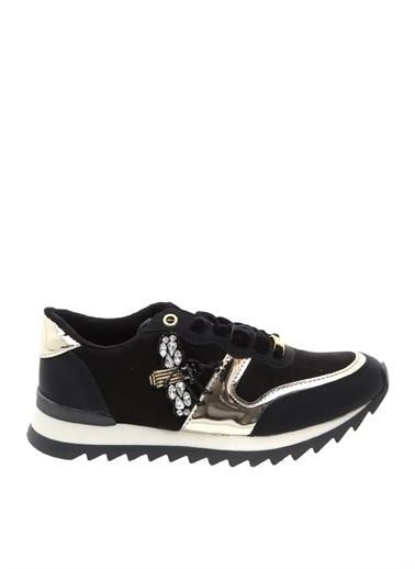 Divarese Divarese Kadın Taş Detaylı Koşu Ayakkabısı Siyah